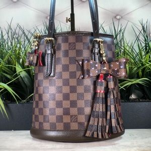 Authenticated Louis Vuitton Damier Bucket Bag